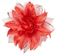 Rote Floratina Blumen Haarspange
