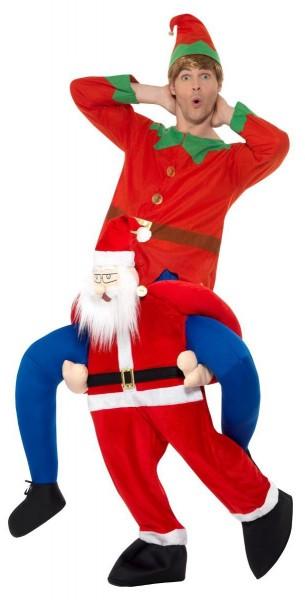 Busy Santa piggyback costume