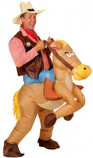 Inflatable cowboy horse Adonis
