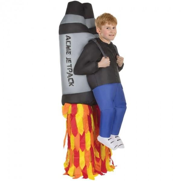 Aufblasbares Raketen Kostüm für Kinder