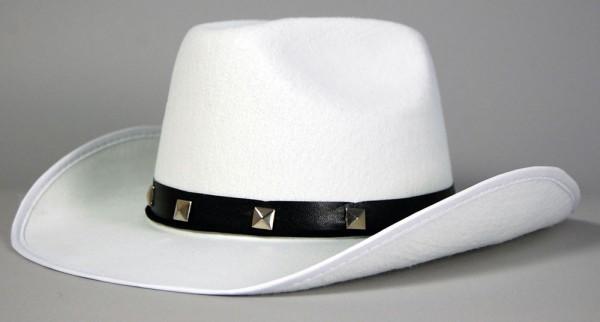 Cowboyhut Weiß Mit Nieten