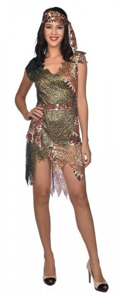 Amber grot vrouw kostuum
