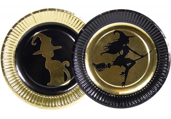8 assiettes en papier Glam Witch 18cm