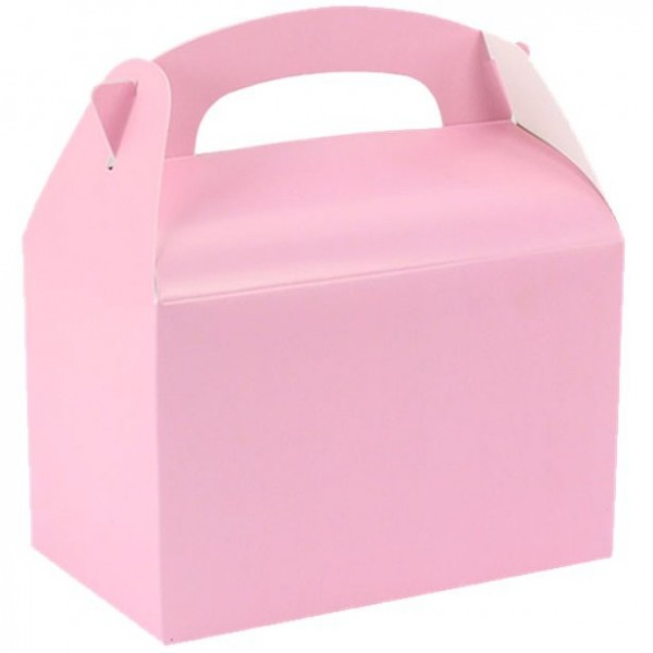 Caja regalo rectangular rosa 15cm