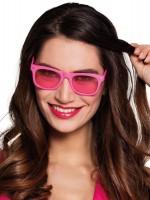 Neon Pinke Brille