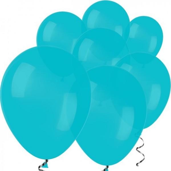 100 Türkise Luftballons Rumba 12,7cm