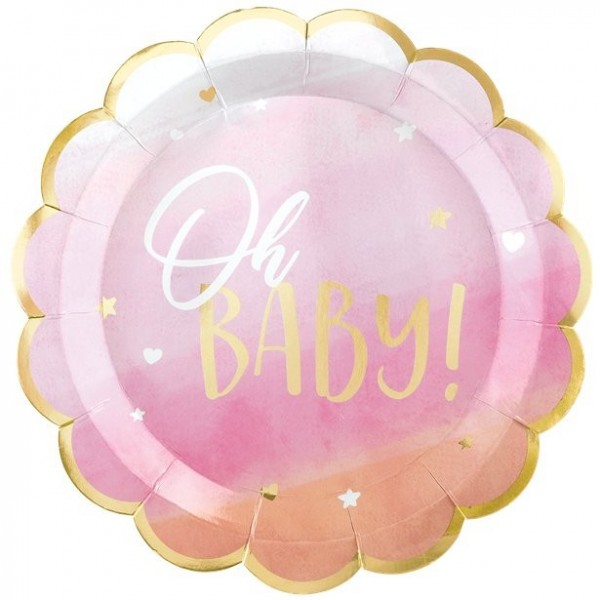 8 Oh Sweet Baby Pappteller 25cm