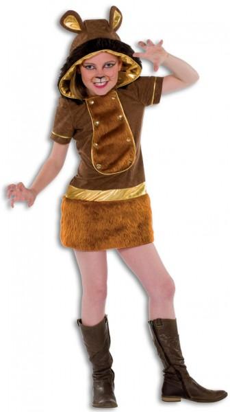 Plüschiges Löwinnenkostüm Für Kinder