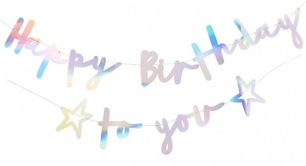 Perlmutt Girlande Happy Birthday