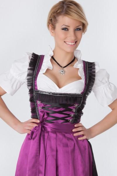 Langes Dirndl Lisa schwarz-violett