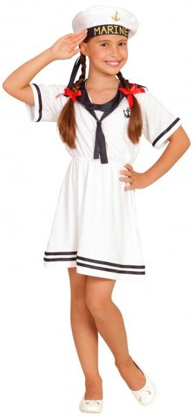 Marine-Mädchen Kinderkostüm