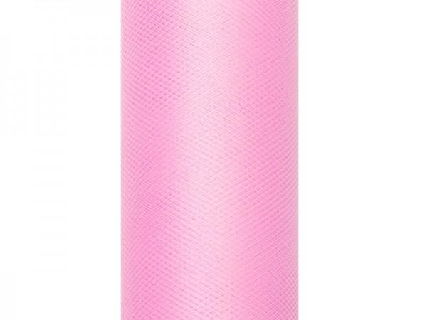 Tela de tul Luna rosa claro 9m x 15cm