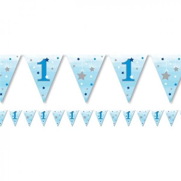 1st birthday garland little blue star 3.7m
