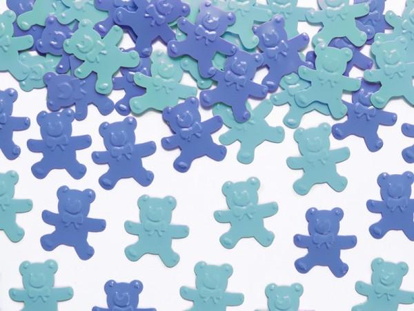 Confeti de osos azul turquesa