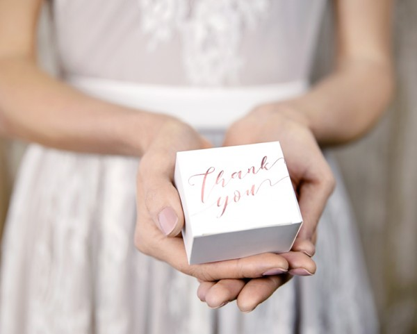 10 Thank you gift boxes rose gold