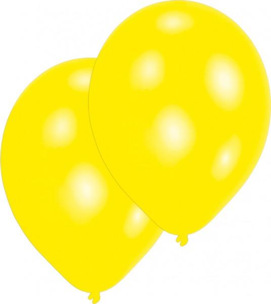Set of 10 yellow balloons 27.5cm