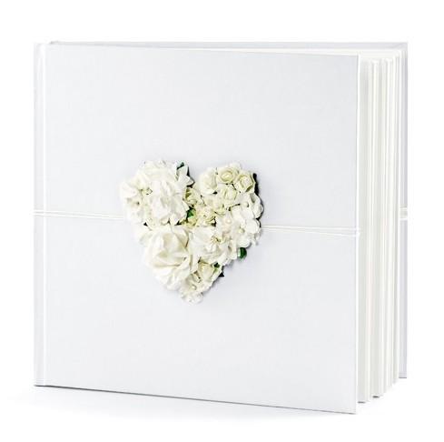 Gästebuch weiße Rosen 20,5cm mit 60 Seiten 1