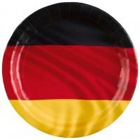 8 Deutschland Pappteller 23cm