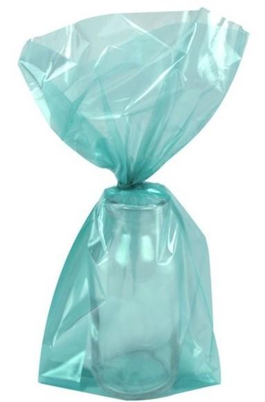 25 bolsas de regalo turquesa 24cm