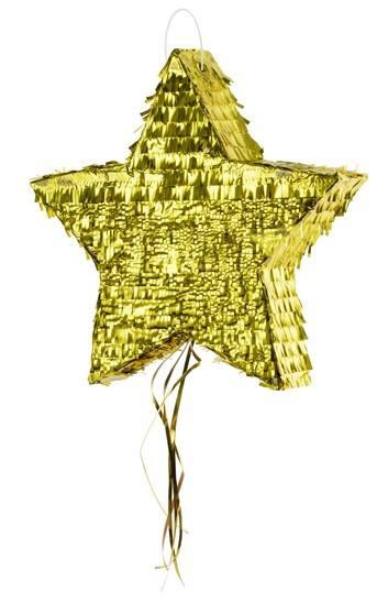 Golden stars pinata metallic