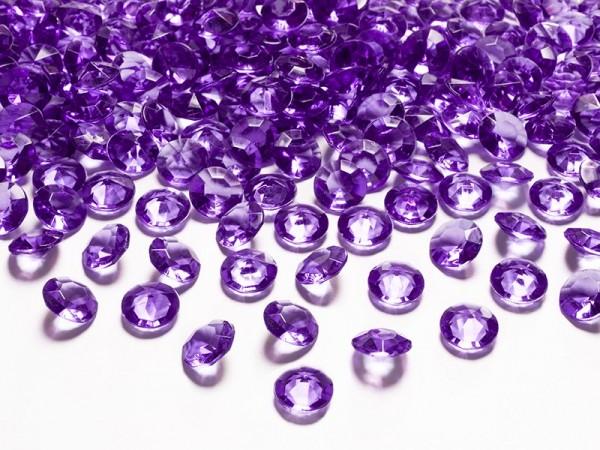 100 Kristall Diamanten Streudeko Pflaume 12mm 1