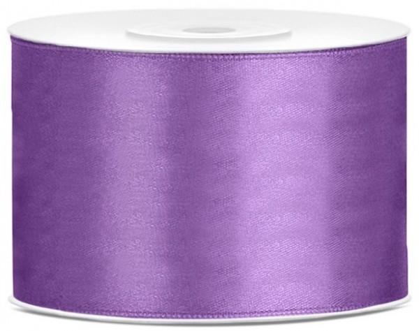 25m satin ribbon lavender 5cm wide