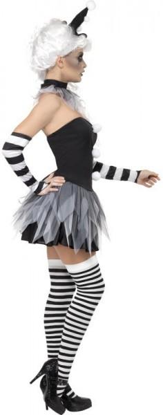 Zirkusclown Pirrot Damen Kostüm Horror Halloween