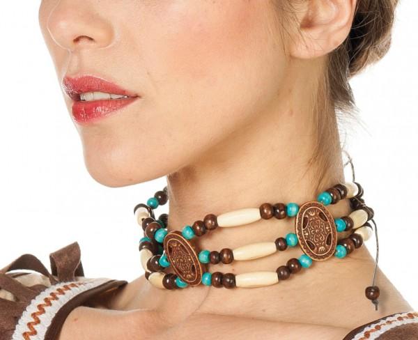 Indianer Halskette Mit Holzperlen