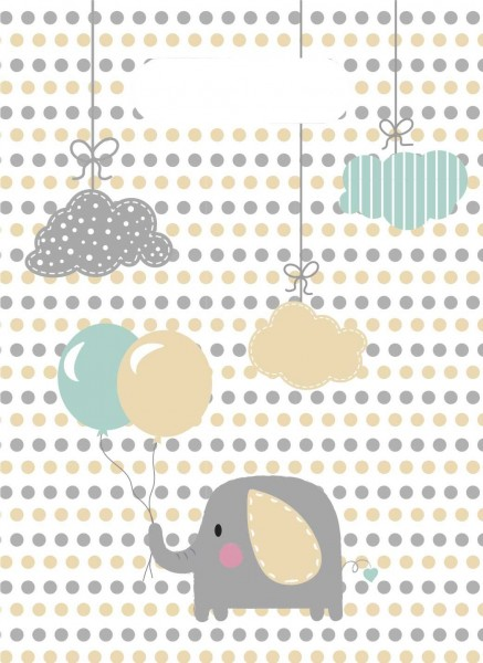 6 bolsas de regalo de elefante bebé