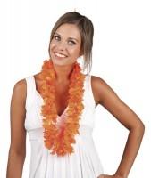 Orangene Hawaiikette Hoola Flower