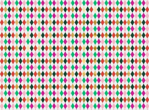 Papier cadeau losanges colorés 2m x 70cm