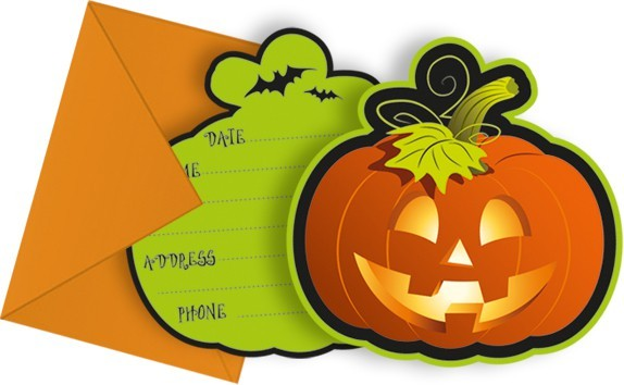 6 Gruselvilla Halloween Einladungskarten
