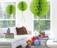 Honigwaben Ball grün 30cm