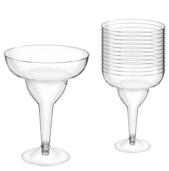 20 verres à margarita transparents 295ml
