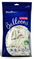 100 Partystar Luftballons weiß 30cm