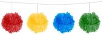 Pompongirlande 4-Farben 3m