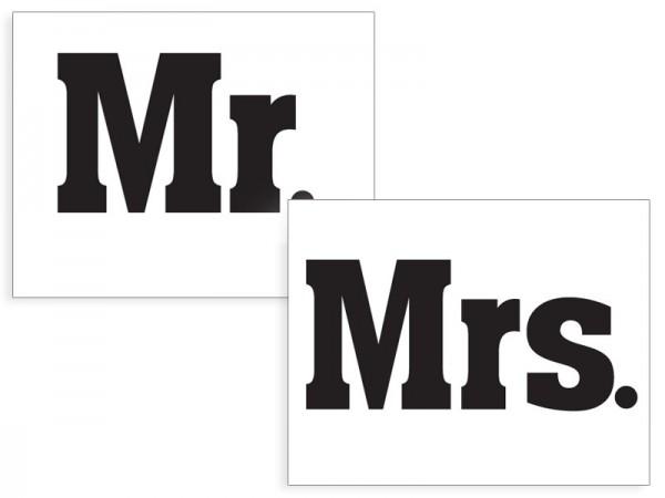 2 Schuhsticker Mr & Mrs