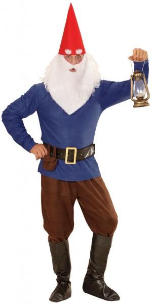 Herren Zwerg Kostüm Blau