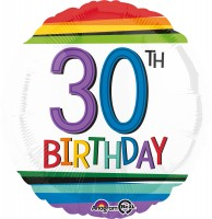 Folienballon Colorful 30th Birthday