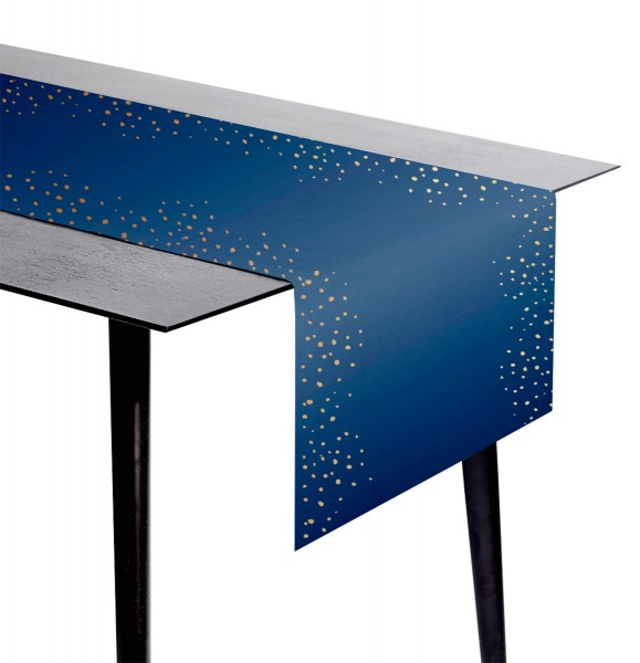 Chemin de table Bleu élégant 240x40cm
