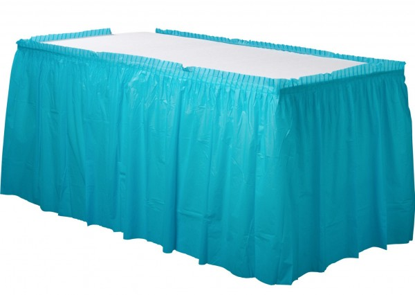 Borde de mesa Mila azul celeste 4,26mx 73cm