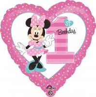Herzballon Minnie Mouse 1.Geburtstag