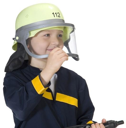 112 Feuerwehrhelm Mit Visier Für Kinder