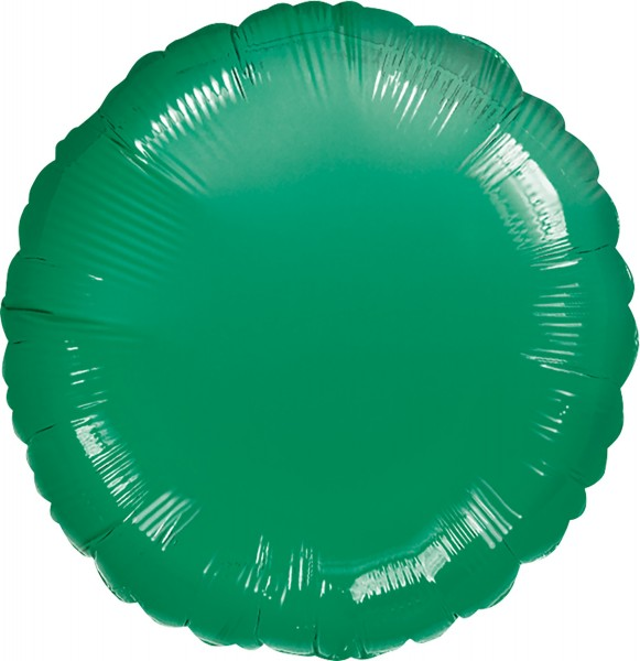 Round foil balloon dark green 45cm