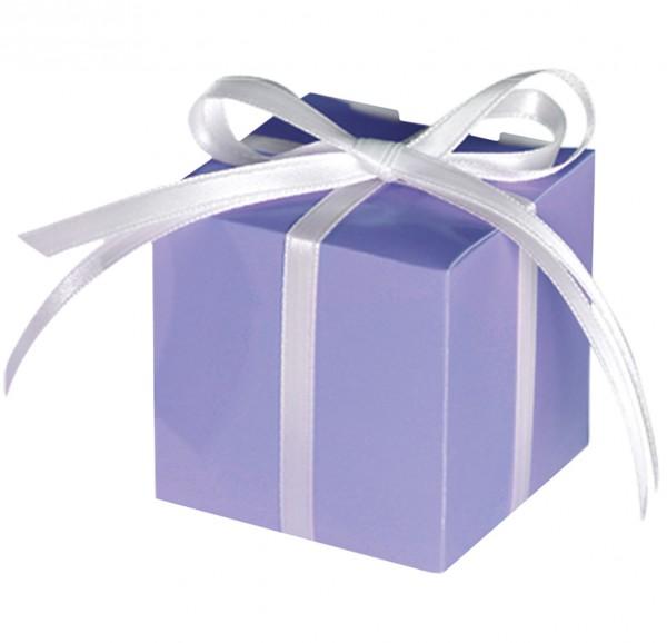 100 cajas de regalo moradas de Tiffany