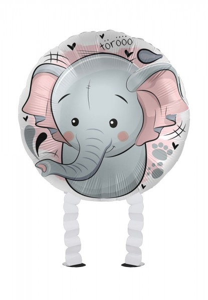 Mini Elefant Airwalker Folienballon 43cm