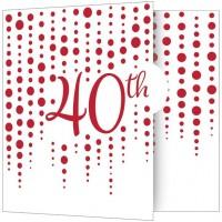 8 Rubinhochzeit Einladungskarten