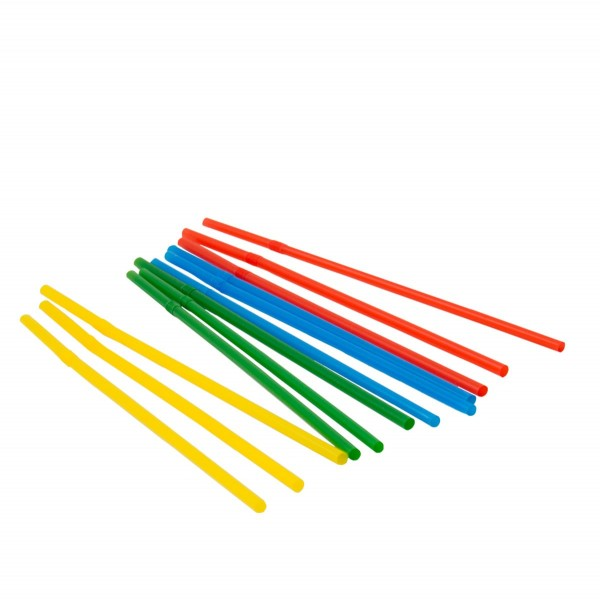 100 basic straws colored 21cm