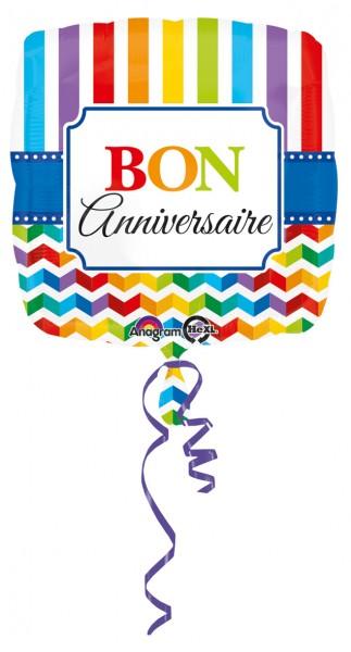 Bunter Geburtstagsballon Bon Anniversaire Partyde