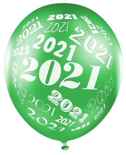 50 Metallic 2021 Luftballons 30cm